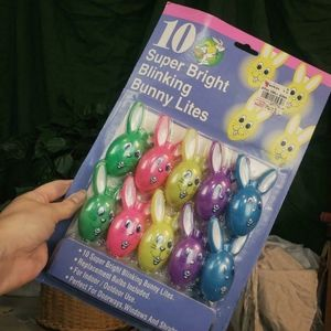 New in package vintage easter bunny lights!